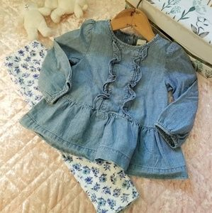 Oshkosh Jean Blouse outfit!